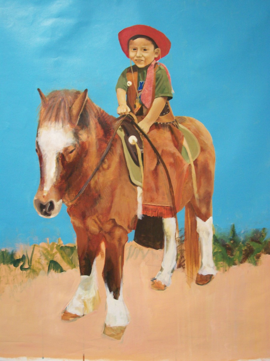 Pony Tejano, 2008. Acrylic on canvas
