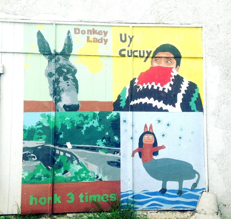 San Anto Donkey Lady Mural